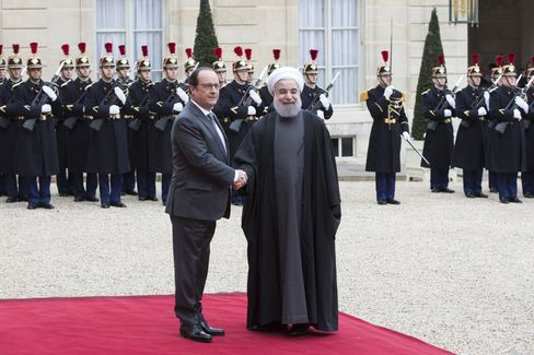 Iran's President Hassan Rouhani Meets France's President Francois Hollande