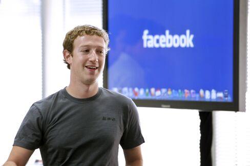 Facebook Founder and Chief Executive Officer Mark Zuckerberg