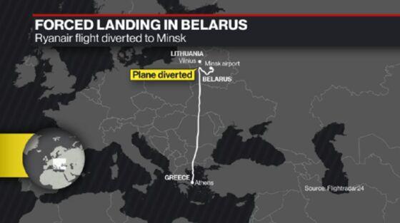 U.S., EU Slam Belarus 'Piracy' as Pressure Builds Over Arrest