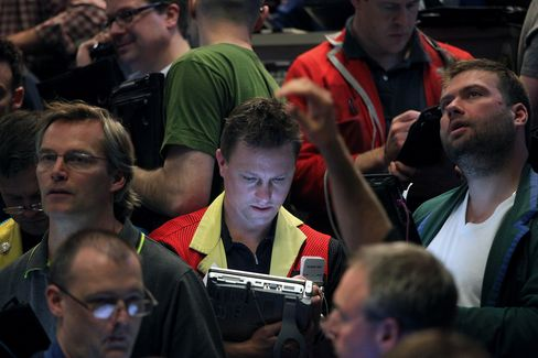 Traders Work on the Floor of the CBOE in Chicago