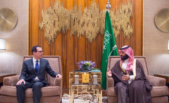 Trump Says He's 'Not Satisfied' as Mnuchin Meets Saudi Prince