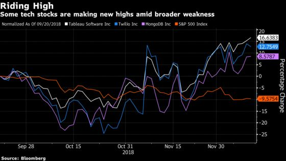 Software-Stock Trio Defies Market Choppiness to Reach New Highs