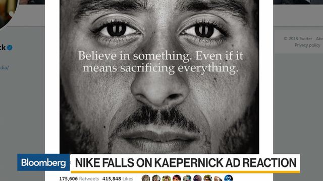 Nike Commercial With Kaepernick Media Buzz Worth 163 Million Bloomberg