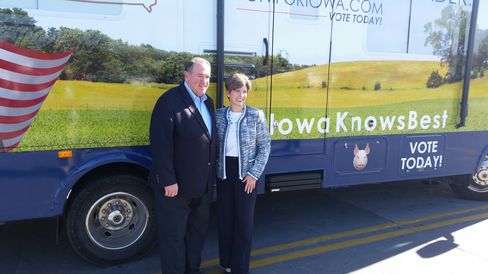 Former Arkansas Governor Mike Huckabee was the many potential 2016 Republican presidential candidates to campaign with Joni Ernst before her election to the U.S. Senate from Iowa.