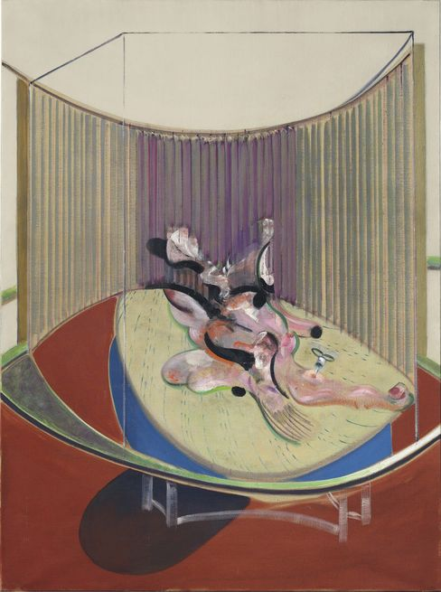 Francis Bacon's  Version No. 2 of Lying Figure with Hypodermic Syringe from 1968.