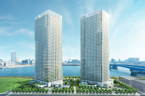 Parkhouse Harumi Towers Artist Rendering