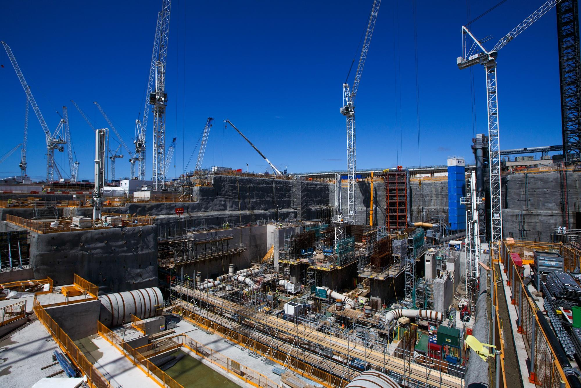 Plac budowy elektrowniowej Hinkley Point C przed premią EDF
