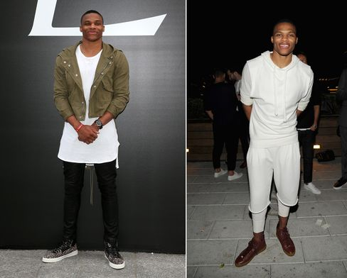 NBA basketballer Russell Westbrook is known for his adventurous sense of style--which sometimes teeters on the edges of feminine.