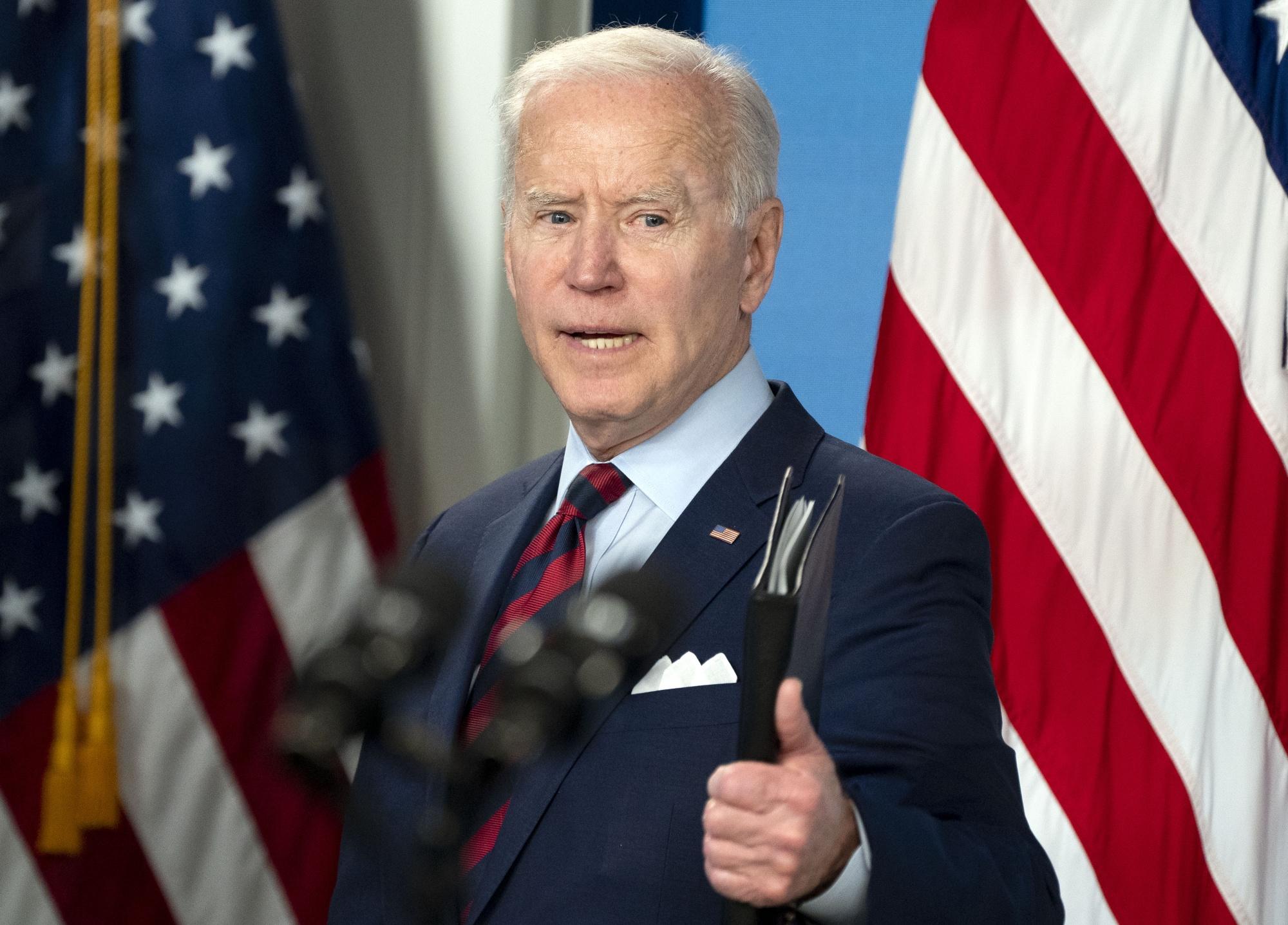 President Joe Biden speaksin Washington, D.C.,onApril 7.