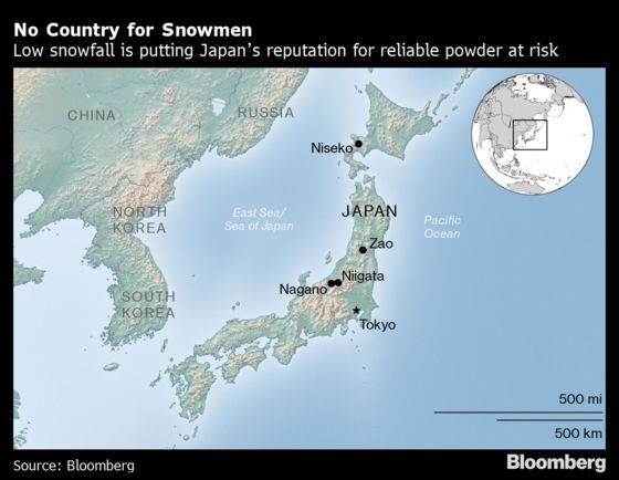 Japan's Ski Areas Are Having Their Worst Winter in Decades