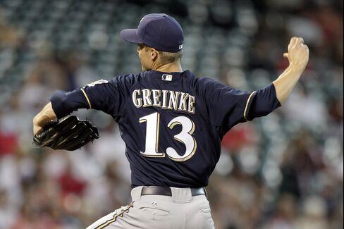 Milwaukee Brewers' Zack Greinke