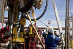 Shale oil operations in thePermian Basin near Midland, Texas.