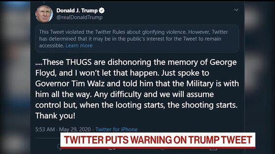 Twitter-Trump Tension Mounts on Warning Over Shooting Tweet