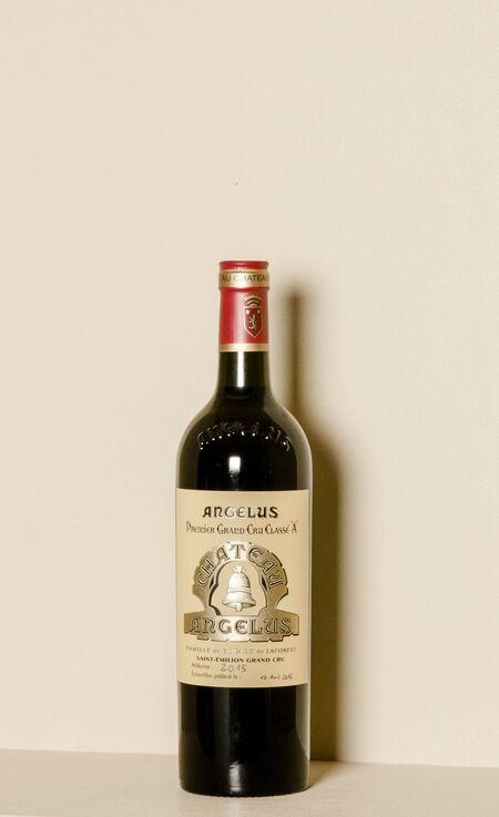 A 2015 bottle of Château Angelus.