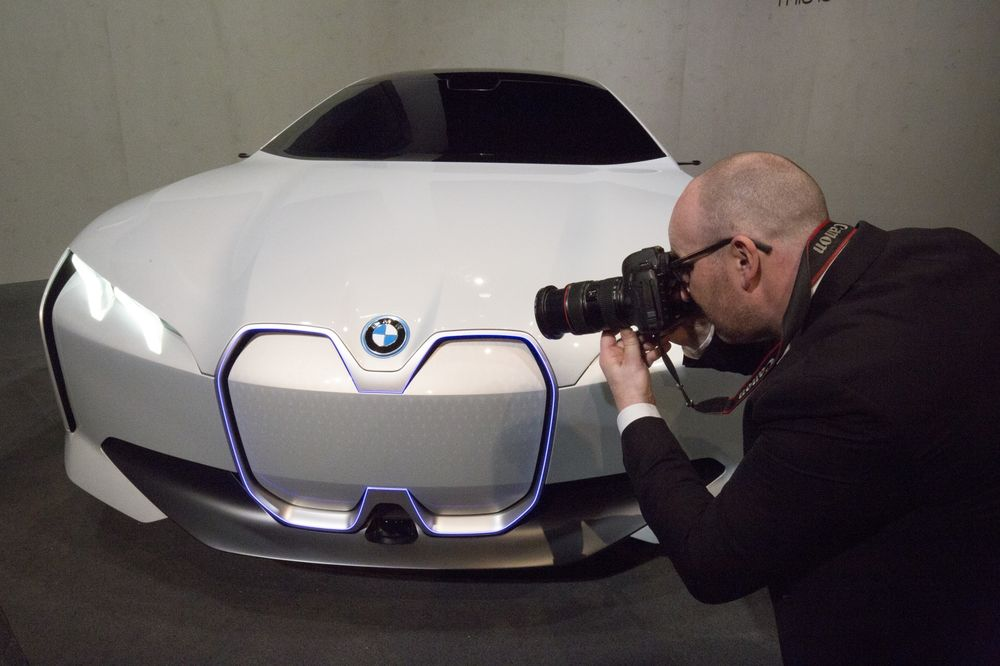 Annual Account Press Conference of BMW Group. BMW i4, the electric car of the future.