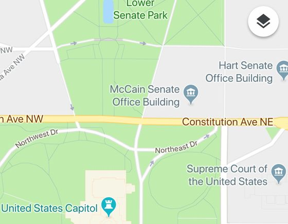 Google Maps Briefly Calls Complex 'McCain Senate Office Building'
