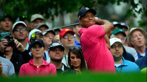Golf Champ Tiger Woods at the Masters