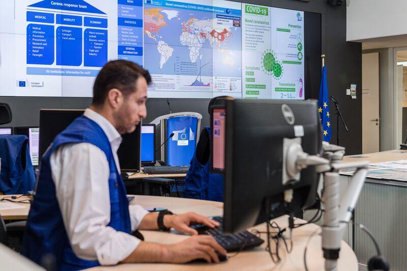 European Commission President Ursula von der Leyen Convenes Coronavirus Response Team