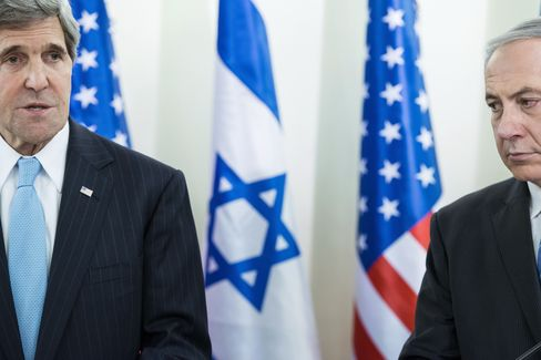 U.S. Sec. of State John Kerry & Israeli PM Benjamin Netanyahu