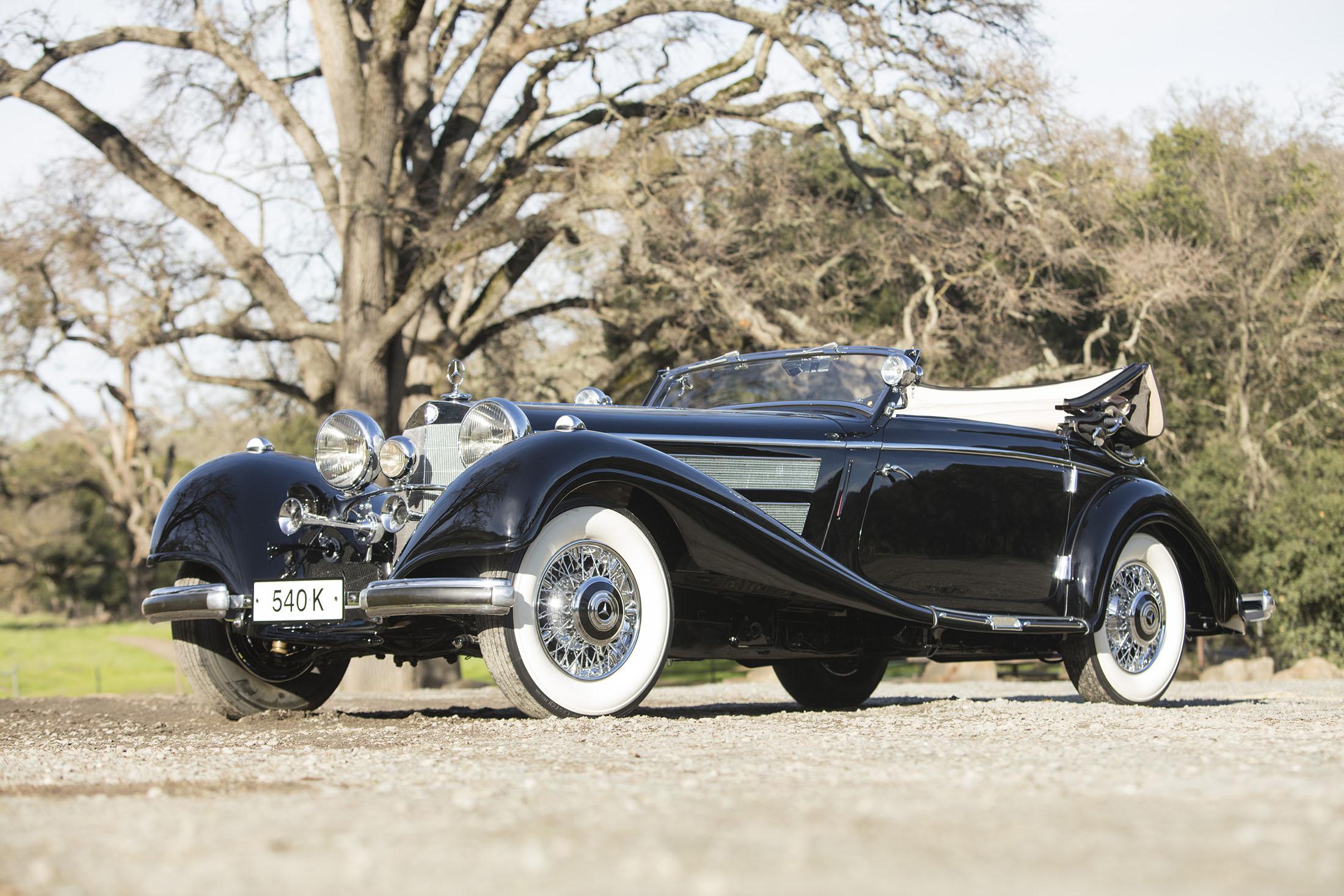 $2,970,000— 1937 Mercedes-Benz 540K Cabriolet A