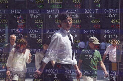 Japanese Stocks Enter Correction, Extending Last Week's Plunge