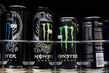Monster energy drinks.