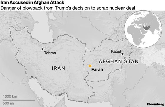 Iran Blamed for Afghan Attacks After Trump Scraps Nuclear Deal