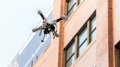 Drone at Fashion Week in NYC