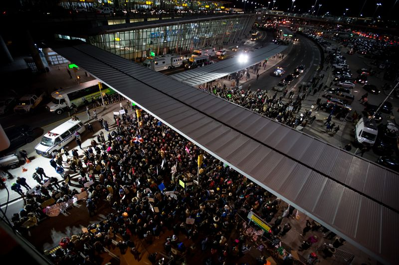 gather outside jfk airport