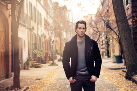 """""""I'm open to any type of jacket. No style is off limits,"""" says Del Zotto. """"My requirements are that it's warm, I can wear it with my favorite boots and jeans, and that it always makes me look like a 10."""""""