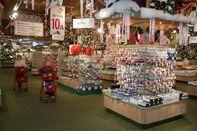 Ornaments for sale at Bronner's Christmas Wonderland.