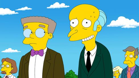 Mr. Burns and Smithers in