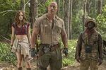 "Karen Gillan, Dwayne Johnson, and Kevin Hart in ""Jumanji 2"""