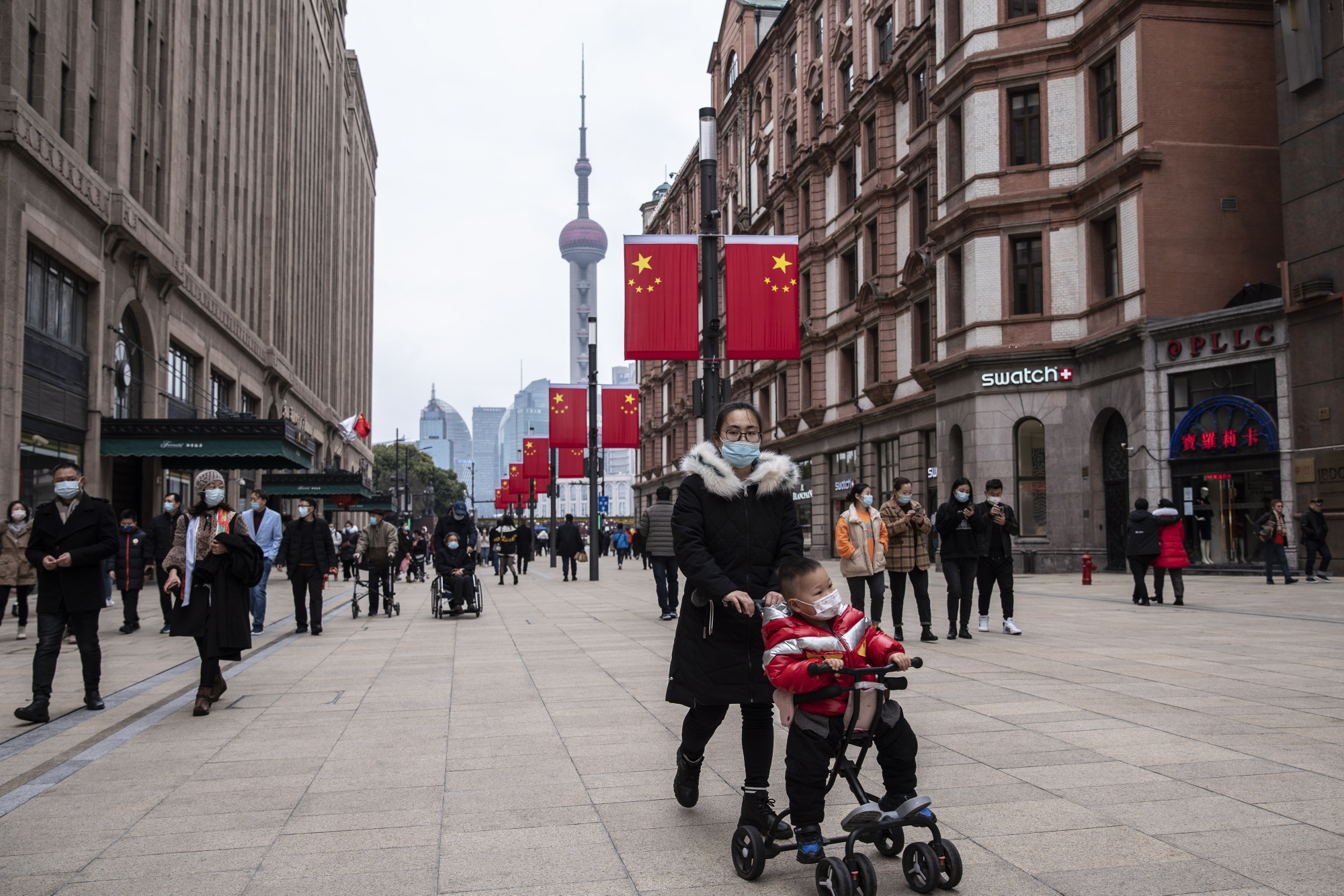 Sales of luxury goods in China have been stronger than mass-market products since the pandemic, reflecting restrictions on overseas travel and a stronger recovery in wages for high-earners.