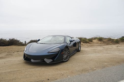 The 2017 McLaren 570GT is kind of like a hatchback targa with its glass-roof top.