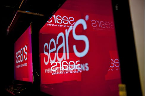 Television Screens Display the Sears Holdings Corp. Logo