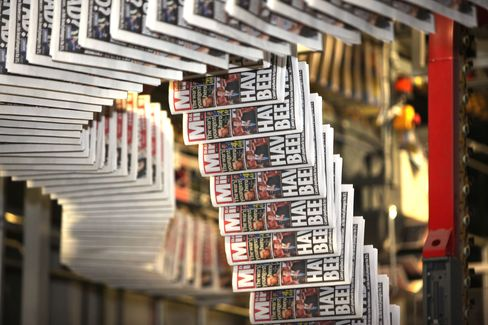 The Daily Mirror at the printing plant