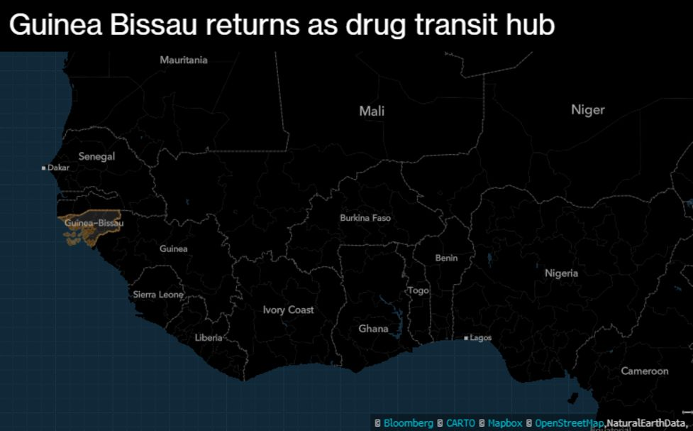 Record Cocaine Busts Signal West Africa Is Transit Hub Again - Bloomberg