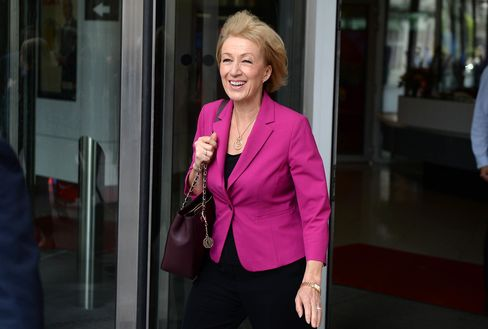 British Conservative party leadership candidate Andrea Leadsom.