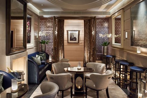 The drapes at the far end of the room are usually drawn, making the bar difficult to find.