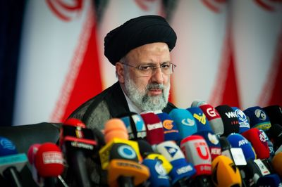 Hardline Cleric Ebrahim Raisi's First News Conference After Winning Presidential Election