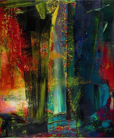 Gerhard Richter's abstract canvas