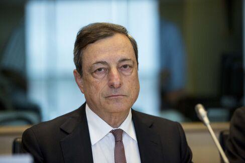 European Central Bank President Mario Draghi Addresses EU Parliament