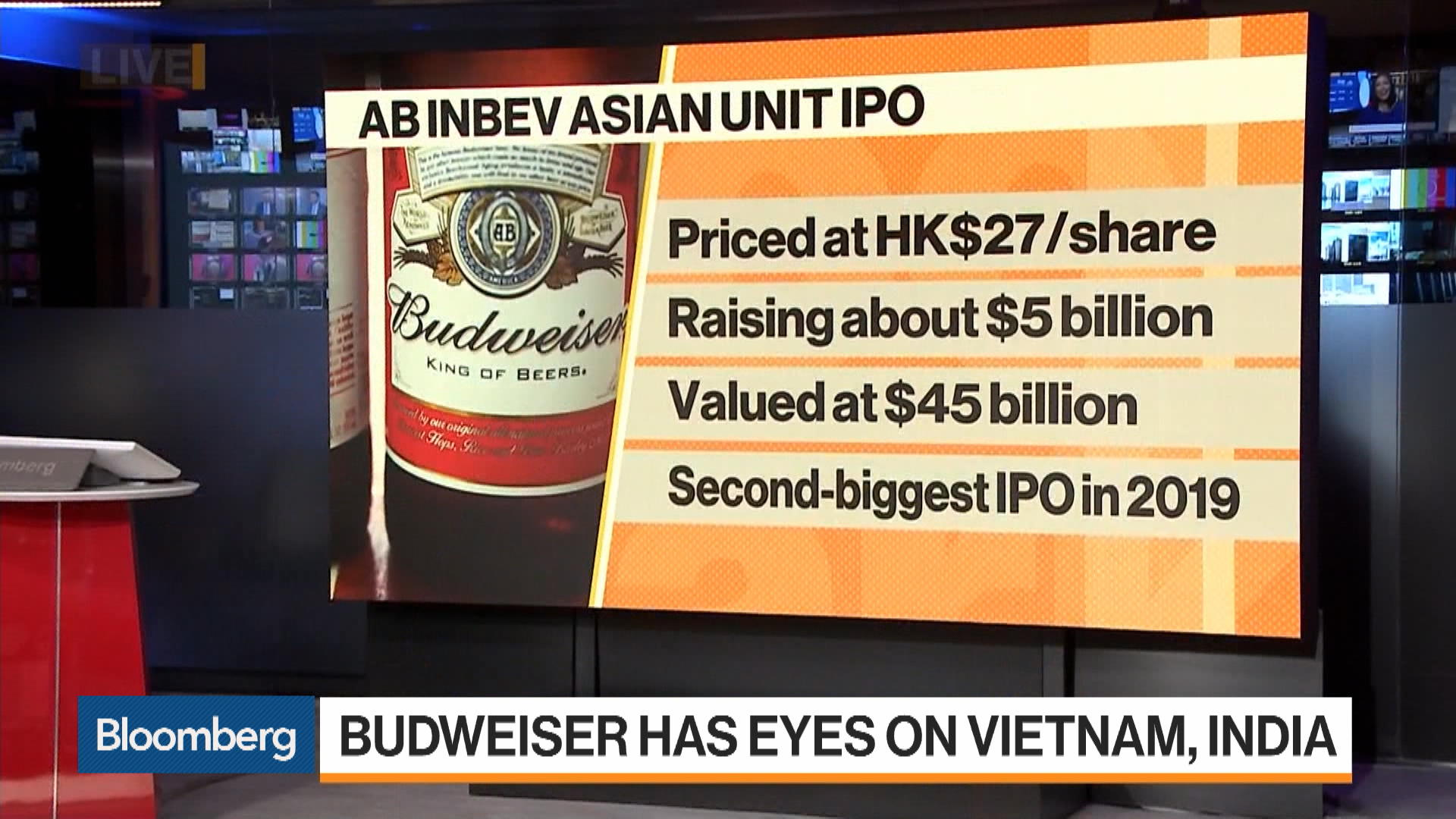 AB InBev's Asia Unit Rises in Hong Kong Trading Debut
