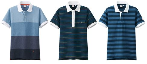 An assortment of varying striped polos by Uniqlo x Michael Bastian. Just add fitted khakis and a navy web belt.