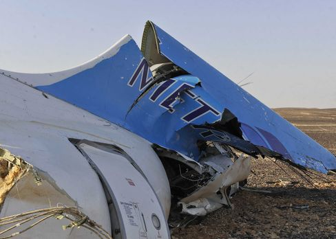 Metrojet tail section remains