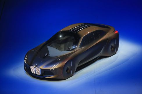 BMW Vision Next 100 concept automobile unveiled today.
