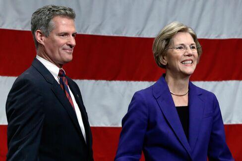 Brown, Warren Tussle Over Storm-Delayed Debate