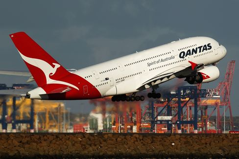 Images of Qantas Airways and Virgin Australia Aircraft Ahead of Full-Year Results
