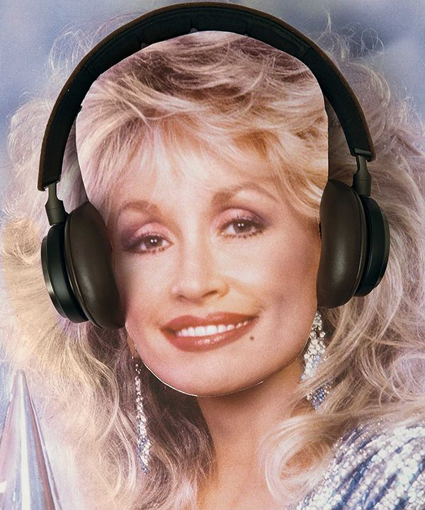 Image result for dolly parton image with headphones
